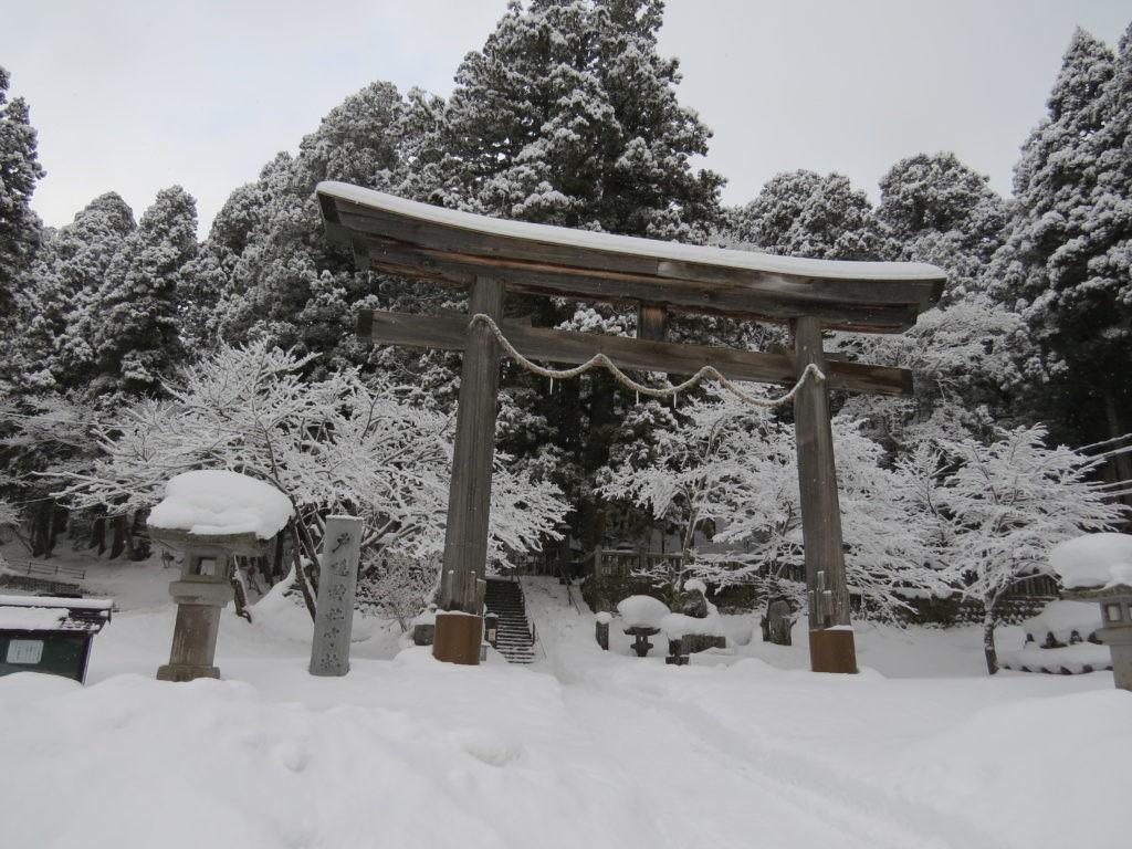 白銀の世界に迷い込む 冬の戸隠