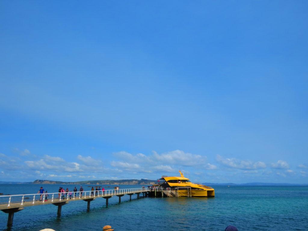 ティリティリマタンギ島のフェリー乗り場(wharf)